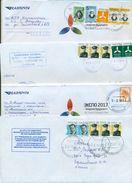 Kazakhstan.Four Envelopes Past The Mail. One Envelope Registered. - Kazakhstan