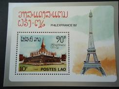 LAOS  MINT  SHEET  STAMPS   MONUMENTS - Laos