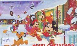 Télécarte Japon * 110-203009 * MERRY CHRISTMAS * DISNEY  DISNEYLAND (4791)  Japan Phonecard - Disney