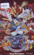 Télécarte JAPON DISNEY (4793) Métal Japon DISNEY * MF-1001577 * Disneyland 20 Th Anniversaire - Disney