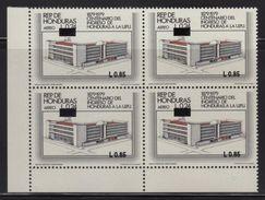 Honduras, Stamp Centennial Income From Honduras To The UPU, Overprint 1993, Block 4, Has Error, Scott C925, MNH - Honduras