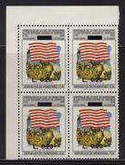 Honduras, Stamp Bicentennial Of The United States Of America, Overprint 1992, Block 4, Flag, Has Error, Scott C883 MNH - Honduras