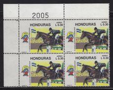 Honduras, Equitation Stamp, XI Pan American Sports Games 1991, Block 4, Has Error, Scott C826, MNH - Honduras