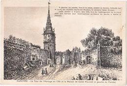 89. AUXERRE. La Tour De L'Horloge En 1781 Et La Maison De Cadet Roussel - Auxerre