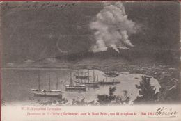 Panorama De St Pierre  Martinique Avec Le Mount Mont Pelee Eruption 1902 Volcano Vulkaan Volcan Vulcano (folds) - Other