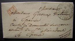 1841 Chaalons Sur Marne Port Payé Lettre Pour Epense - Storia Postale