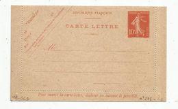 Carte Lettre Vierge , ENTIER POSTAL NEUF , 10c - Ganzsachen