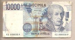 "Italia - Banconota Circolata Da 10.000 Lire ""Volta"" - 1995 P-112c - [ 2] 1946-… : Républic"