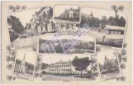 AK AUSTRIA A-0395 HIRTENBERG - Hirtenberg, N.Oe. - Officiers-Waisen-Institut; Pfarrkirche; Schule, Villa Keller - Otros