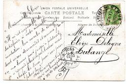 Oblitération Du Dépôt-relais D'AUBANGE Sur CF Expédiée De Namur (cachet à Pont NAMUR STATION) - Postmarks With Stars