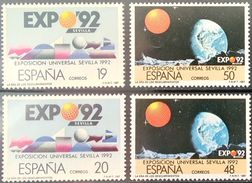 Spain, 1987, Mi. 2758-59, 2808-09, Space, EXPO 92, MNH - Space