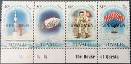 Tuvalu, 1994, Mi. 701-04, The 25th Anniv. Of The First Moon Landing, Apollo, Space, MNH - Space