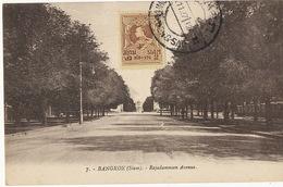 7 Bangkok Rajadamnoen Avenue Postally Used Globus Club - Thaïlande