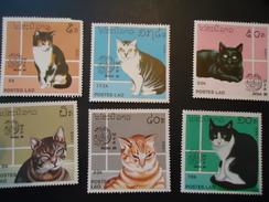 LAOS   MINT   STAMPS ANIMALS CATS  PLEASANT CORNERSTAMPS 5K - Laos