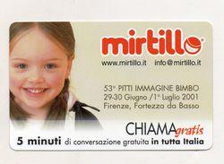 Telecom - Scheda Chiama Gratis - 2001 - MIRTILLO - 5 Minuti Di Conversazione Gratuita - NUOVA - (FDC7504) - [2] Sim Cards, Prepaid & Refills