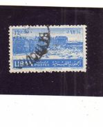 LIBANO LEBANON LIBAN 1952 RUINS AT BAALBECK ROVINE 12.50p USATO USED OBLITERE' - Liban
