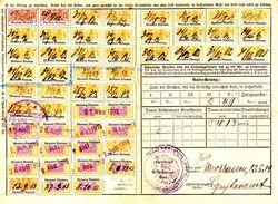Fiscal, Fiscaux, Carte Assurances Sociales Alsace Lorraine 1914 - Fiscaux