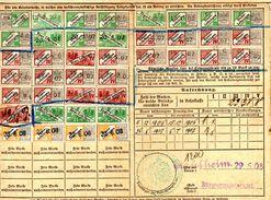 Fiscal, Fiscaux, Carte Assurances Sociales Alsace Lorraine 1908 - Fiscaux