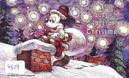 Télécarte Japon DISNEY 110-133763 * Série N° 3/25 * Mickey En PERE NOEL (4819) CHRISTMAS Japan Phonecard * WEIHNACHTEN - Disney