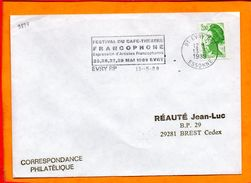 ESSONNE, Evry, Flamme SCOTEM N° 9894, Festival Café-théâtre 25-28 Mai 1989 - Storia Postale