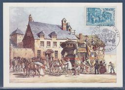 = Journée Du Timbre 1973, Relais De Poste, 80 Amiens 24 03 1973 N°1749 Carte Postale - Stamp's Day