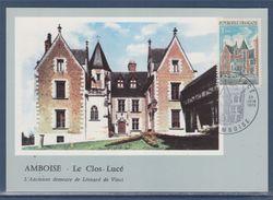 Le Clos Lucé Demeure Léonard De Vinci 37 Amboise 23 06 1973 Carte Postale 1er Jour N°1759 - FDC