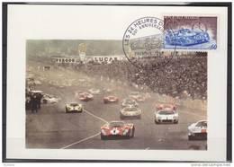 = 24 Heures Du Mans Premier Jour 2 06 1973 Carte Postale N°1761 Cinquantenaire Le Mans 72 - FDC