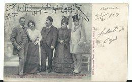 Il Maestro Ruggero Leoncavallo E Gli Artisti Esecutori Dell'opera ZAZA' - Cantanti E Musicisti