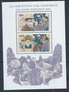 Germany 1994 Birth Carl Hagenbeck 150th Animals Mammals Berlin Zoo Nature Elephant People M/S Stamps MNH Mi BL28 - [7] Federal Republic