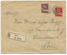 1746 - 10 Rp. Tell Privatganzsachen-Umschlag Mit POKO-Perfin Zusatzfrankatur - Ganzsachen