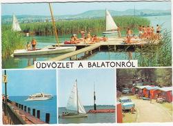 Balantonról: SKODA 1000 MB, LADA 1200 - CAMPING TENTES - Plattensee, Boten - (Hungaria) - Passenger Cars