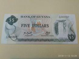 5 Dollars 1989 - Guyana