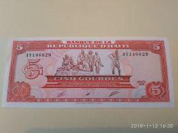 5 Gourdes 1989 - Haiti