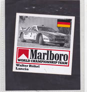 Sticker Marlboro Walter Röhrl - Lancia - Car Racing - F1