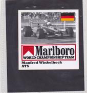 Sticker Marlboro M. Winkelhock - ATS - Automobile - F1
