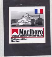 Sticker Marlboro Philippe Alliot - Martini - Car Racing - F1