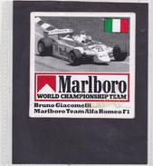 Sticker Marlboro Bruno Giacomelli - Alfa Roméo F1 - Car Racing - F1