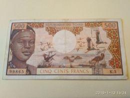 500 Francs 1974 - Chad