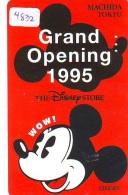 Télécarte  JAPON * 110-171047 * DISNEY STORE (4832) PHONECARD JAPAN * Telefonkarte * GRAND OPENING - Disney