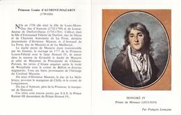 Princesse Louise D'Aumont-Mazarin, Par Marie Verroust - Honoré IV, Prince De Monaco, Par François Lemoyne - Monaco