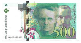 France - 500 Francs Pierre Et Marie Curie 1994  N° Q 012532832 Très Beau Billet - 1992-2000 Dernière Gamme