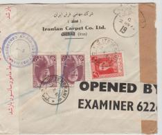 Ira096/ IRAN -  Brief, / Mehrfach Zensiertes Einschreiben Nach London 1942 - Iran