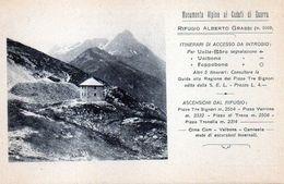 RIFUGIO ALBERTO GRASSI - BERAGMO - NON VIAGGIATA - Bergamo