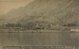 130118B - CARTE PHOTO ANCIENNE MONTENEGRO 1919 Canonière COURAGEUSE Bouches De CATTARO KOTOR Dragage Des Mines Bateau - Montenegro