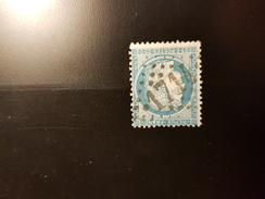 N°60 A, 25 Cts Bleu, GC 1714, Grenade Sur L'adour, Landes - 1849-1876: Klassik