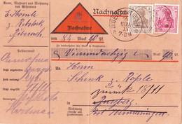 Biberach 1917, Nachnahme - Deutschland