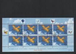 2001 Pro Aero Kleinbogen Gestempelt - Blocks & Kleinbögen