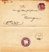Brief Von 1887 Von Wiesbaden Nach Usingen - Historical Documents