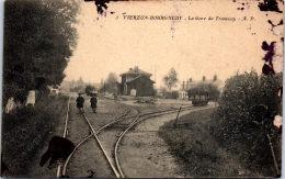 18 VIERZON BOURGNEUF - La Gare De Tramway (état) - Vierzon