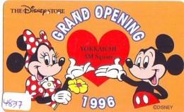 Télécarte  JAPON * 110-174506 * DISNEY STORE (4837) PHONECARD JAPAN * Telefonkarte * GRAND OPENING - Disney